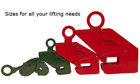 side beam clamps in various sizes