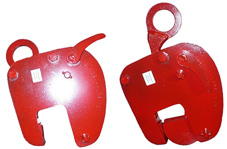 1 Tonne Vertical Lifting Clamp with 0-75mm Jaw
