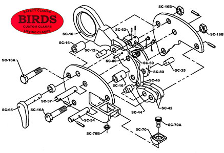 Vertical Lift clamp - exploded view